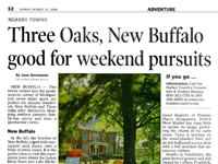 Three Oaks, New Buffalo good for weekend Pursuits