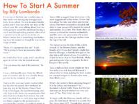 How To Start A Summer